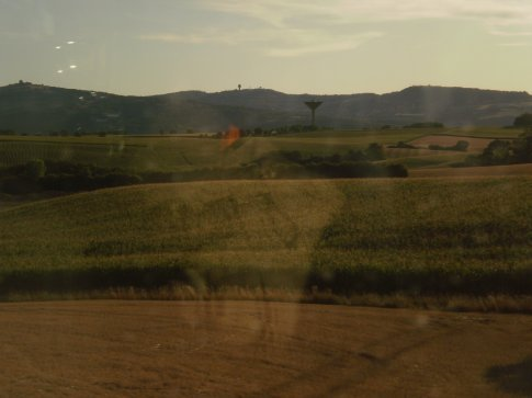 Scenery on the train from Paris to Lyon