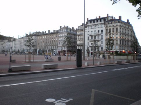 the big square and where we arrived in Lyon