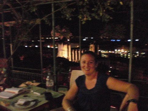 me on the terrace at our hostel