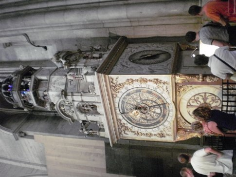 the astronomical clock in the church in lyon city