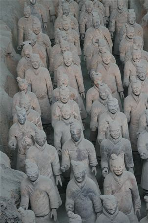 Attentive legions of the Qin army
