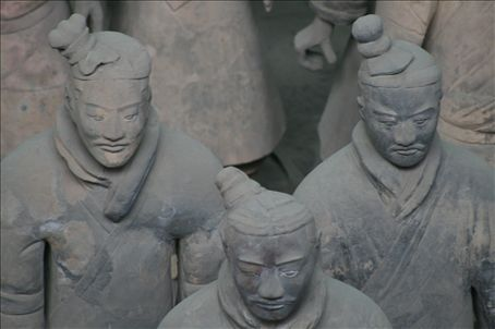 Qin soldiers in eternal battle formation