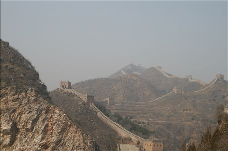 spluttering and caughing whilst geriatric hikers marched past me,  I walked 4 sections of the Great Wall at Simatai - breathtaking
