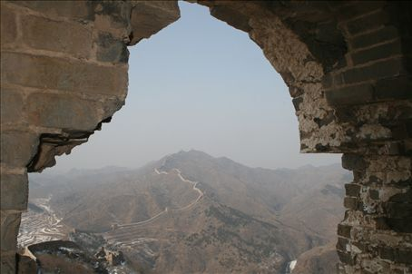 Looking from one of the station point along the Great Wall - they are positioned every quarter mile - or so it seems