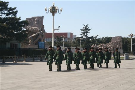 Special police at Tian'an Men square