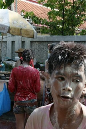 Sonkran or Thai New Year is free licence to slap mud on peoples faces and have water fights