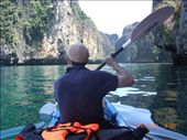Sea Kayaking into Maya around Koh Pi Pi Lay  - an exhausting cross ocean oar from Koh Pi Pi: by jonnygo, Views[562]