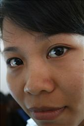 Ann at the hotel in Vietnam.  I wanted to capture her large brown eyes.: by jonnygo, Views[544]