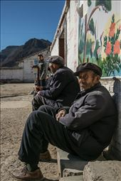 One of seven old men sitting in a village really doing nothing at all. : by jonzerger, Views[204]