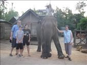 Family shot after riding elephants - mum tryed to deny one its food hehe: by jordie, Views[168]