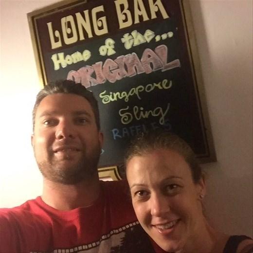 The Long Bar at the Raffles Hotel. Singapore Sling O'clock