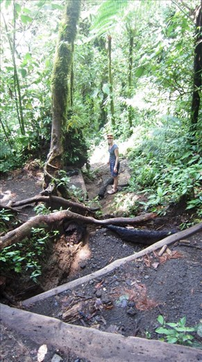 Very steep hiking up Chato Volcano. Why don't people take hiking poles for this sort of thing.