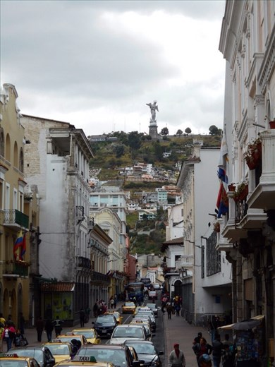 The Virgin Mary of Quito. Their version of Madonna. Quite impressive, you can see her from everywhere in town.