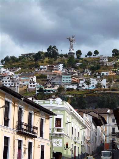 Virgin Mary. We contemplated going up to the top of El Panecillo to see the view from her perspective but didn't end going up there. Not sure we would have made it with the altitude either, can certainly feel it being in Quito city (2,850 metres). Still getting used to it.
