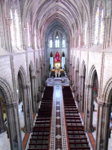 Inside Quito Cathedral.