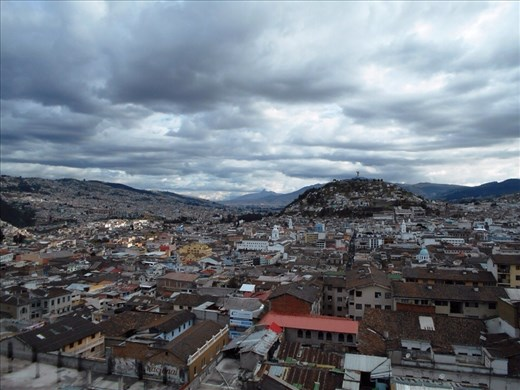 Stunning view from the top of Quito Cathedral. The city really does stretch for miles through the valley and up the sides of the surrounding mountains.