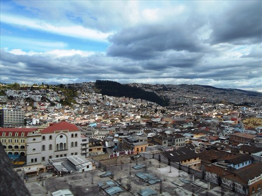 View from the top of Quito Cathedral. At least this made it worth going in for.