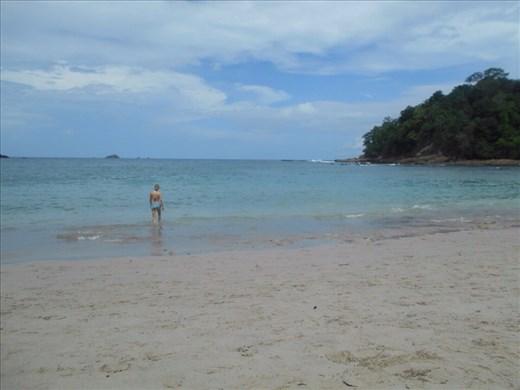 Juanita at Manuel Antonio beach.