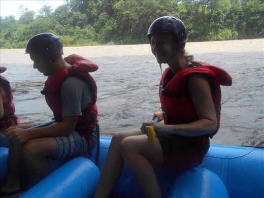 White water rafting, no rapids yet and still dry at this point.
