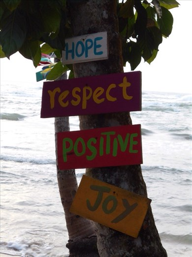 Do what the sign in the tree says :-)