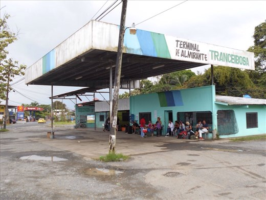 A very simple bus station. Back from Bocas Islands on to the mainland and waiting for our bus to Panama City. Was meant to be a ten hour ride but our local protestors added another seven hours onto that.
