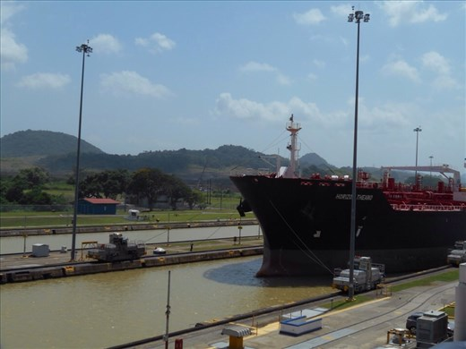 Lucky enough to see a second ship pass through the morning we were there. Petrol/gas tanker.