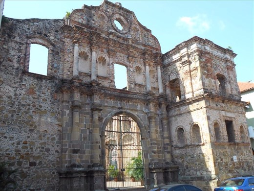 Casco Viejo (Panama old town), gorgeous city. Church and convent of the Compania de Jesus.