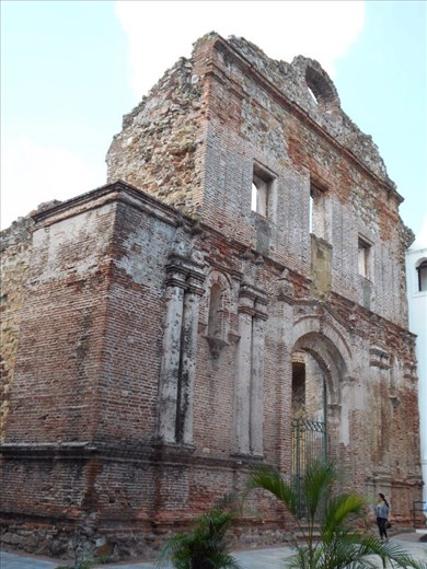 Casco Viejo (Panama old town). The ruins of the church and convent of Santo Domingo.
