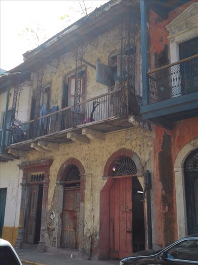 Casco Viejo (Panama old town). Looking really really old.