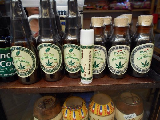 Liquid marijuana, marijuana lipbalm, marijuana oil for sale at the markets.