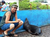 Jorje and his sea-lion buddy at the markets: by jorjejuanita, Views[106]