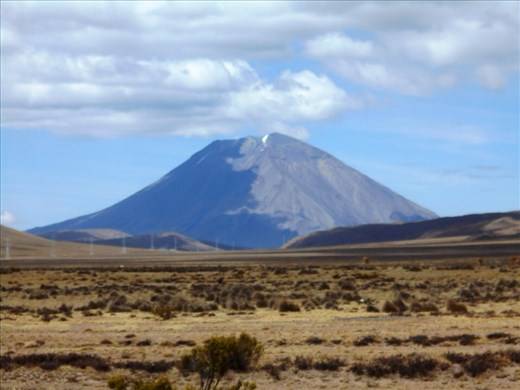 The highly photographed Misti Volcano. Saw lots of smoke coming out of the top of it during our days near by too.