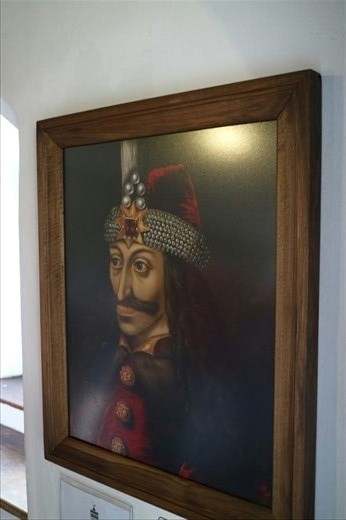 Portrait of Vlad the Impaler ( Dracula ) in Bran Castle