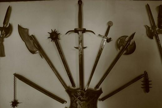 Weapon display inside Bran Castle