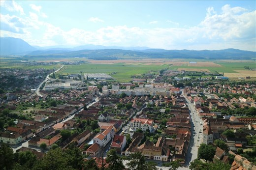 View from the top of Rasnov Fort