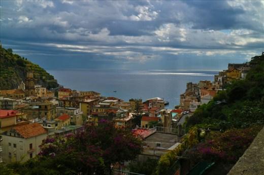 View over Minori on the Amalfi Coast