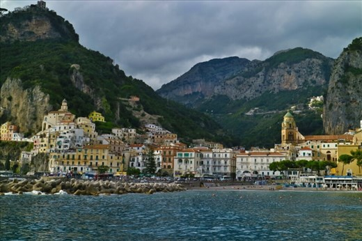 View of Minori from the ferry