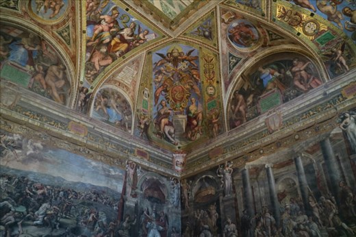 The Raphael room inside the Vatican Museum
