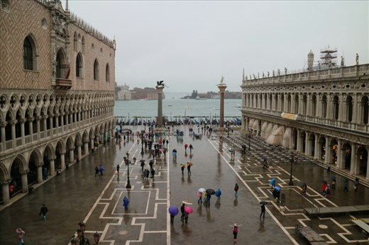 St Mark's Square with the Doge's Palace on the left