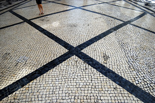 Portugal is famous for its cobble streets and keeping the tradition. The main street in Lisbon is pedestrian area with mosaics and original artistic forms in cobble.