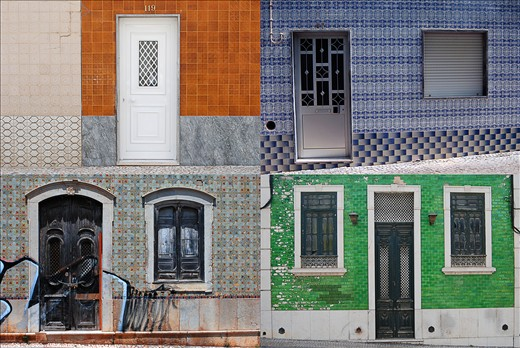 The most distinctive things in Portugal are tiles on the facades. From the Cathedrals to private homes, every few steps you can find colorful themes.