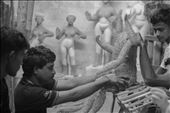 The base of  Idol making for Durga Pooja(a festival), in Bengal, India : by journalbook, Views[159]
