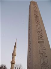 Obelisk of Theodosius, nicely juxtaposed with a minaret. : by jreuter, Views[306]