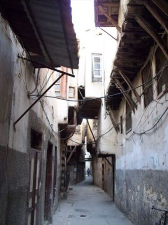 The tunnel-like streets of Damascus' Old City