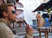 Smoking a nargileh in the shadow of Umayyad: by jreuter, Views[304]