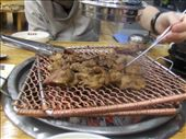 Golbi Beef- The BBQ on the table, THeres loads of these resteraunts dotted about the place, very popular.: by jubaloo, Views[847]