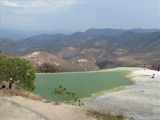 Oaxaca - Pool from springs on cliff near waterfall