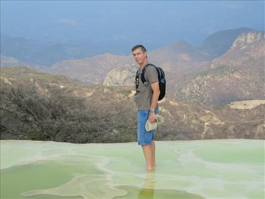 Oaxaca - Pool from springs near waterfall