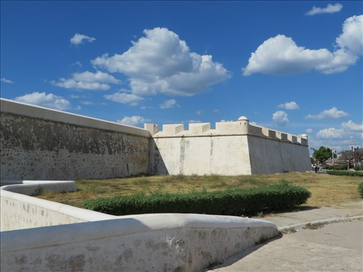 Part of old wall around Campeche