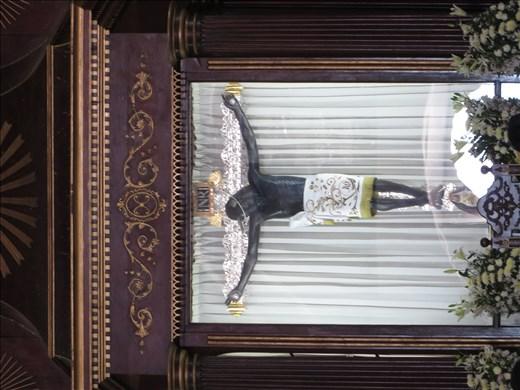 Black Jesus in church - Campeche